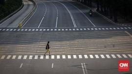 FOTO: Ketika Jakarta Lengang dan Tenang