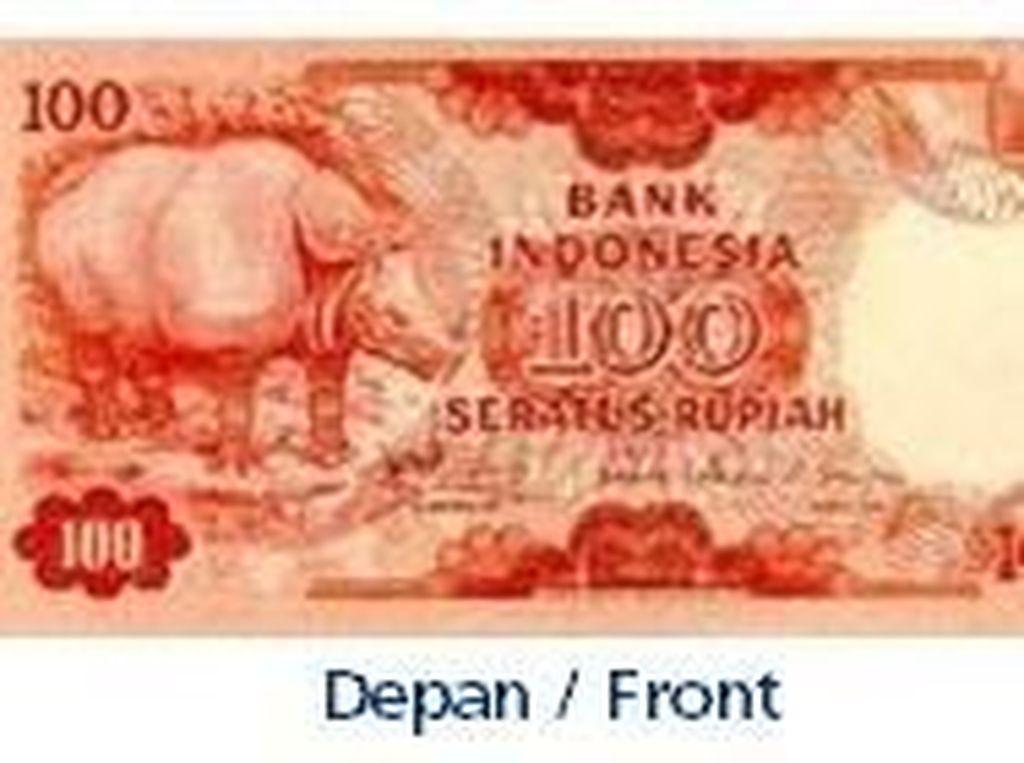 Uang kertas pecahan Rp 100/TE 1977. Istimewa/Dok. Bank Indonesia.