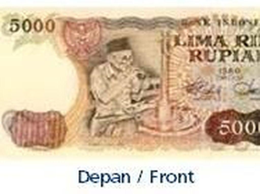 Uang kertas pecahan Rp 5.000/TE 1980. Istimewa/Dok. Bank Indonesia.