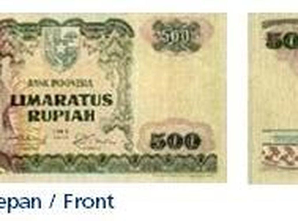 Uang kertas pecahan Rp 500/TE 1968. Istimewa/Dok. Bank Indonesia.