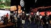 Microsoft, Nintendo dan Sony tetap menjadi bintang dalam ajang tersebut dengan perangkat Xbox, PlayStation dan Switch. (REUTERS/Mike Blake)
