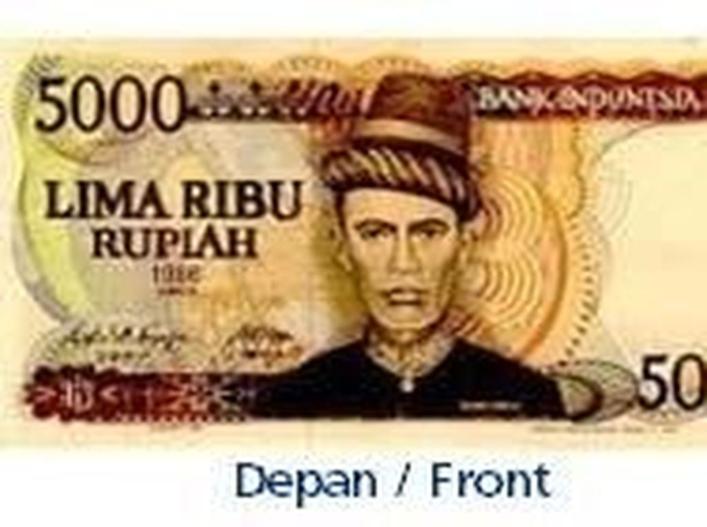 Uang kertas pecahan Rp 5.000/TE 1986. Istimewa/Dok. Bank Indonesia.