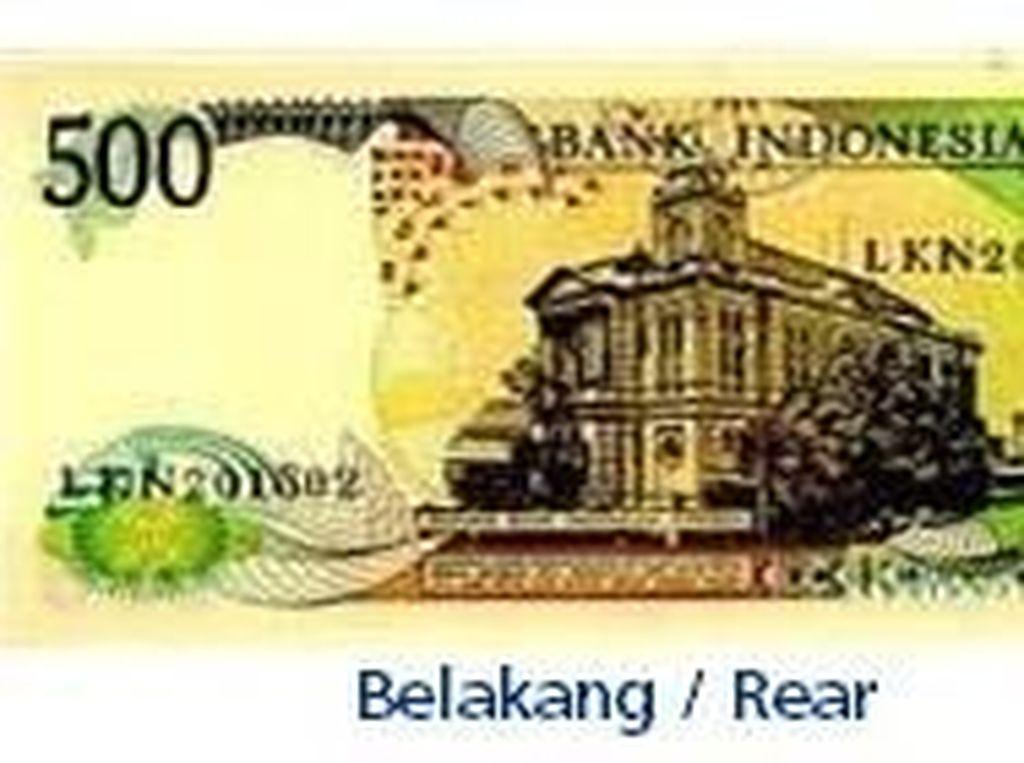 Uang kertas pecahan Rp 500/TE 1988. Istimewa/Dok. Bank Indonesia.