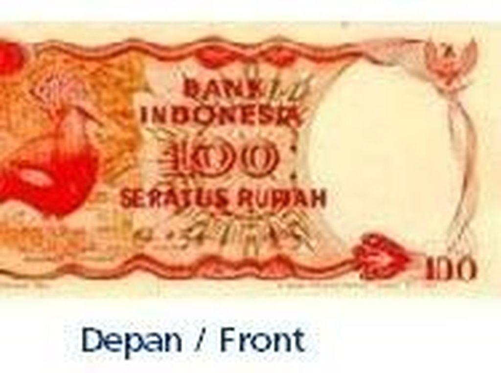 Uang kertas pecahan Rp 100/TE 1984. Istimewa/Dok. Bank Indonesia.