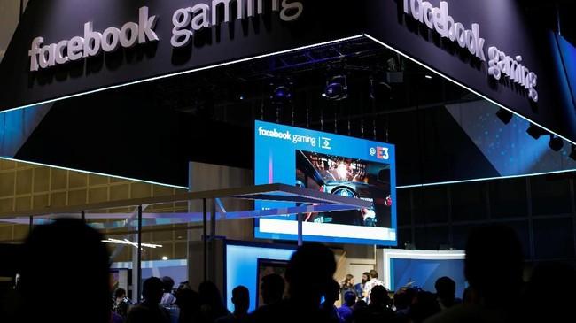 Media sosial seperti Facebook pun turut meramaikan gelaran E3 dengan permainan interakif besutan mereka. (REUTERS/Mike Blake)