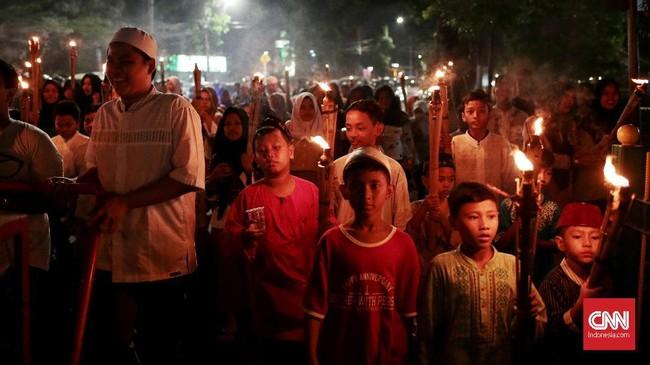 Meski sudah menjamin keamanan, Anies meminta warga bahu membahu menjaga lingkungan selama musim Lebaran. (CNN Indonesia/Andry Novelino)