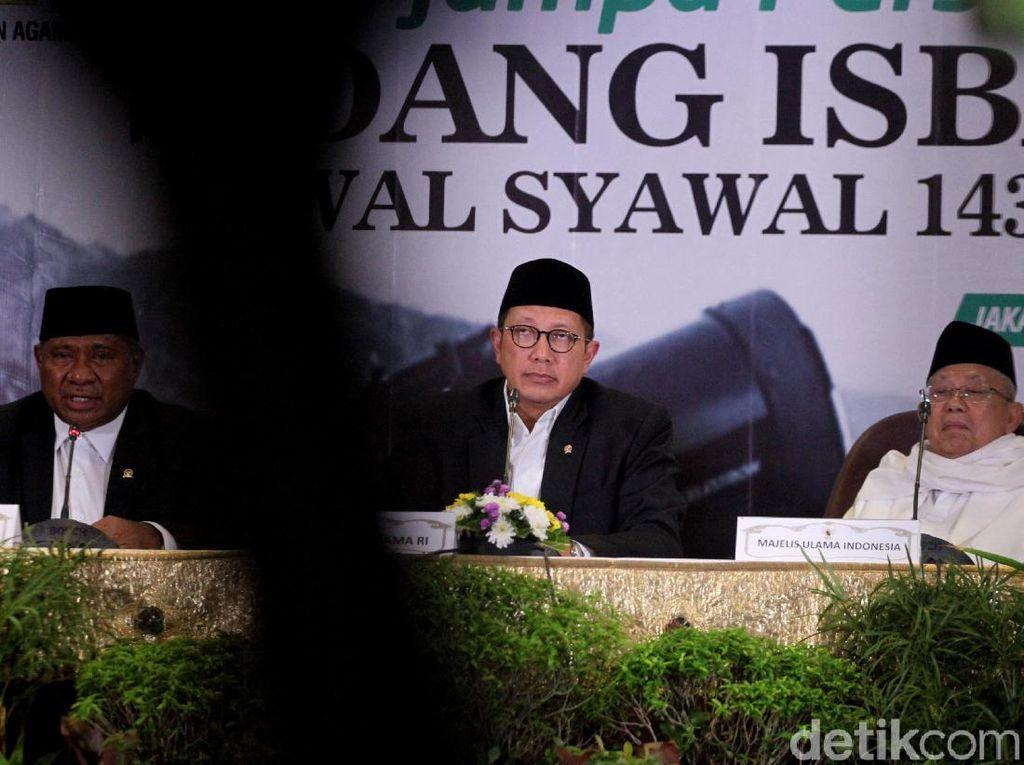 Hasilnya diputuskan Idul Fitri 1 Syawal 1439 H jatuh pada tanggal 15 Juni 2018.