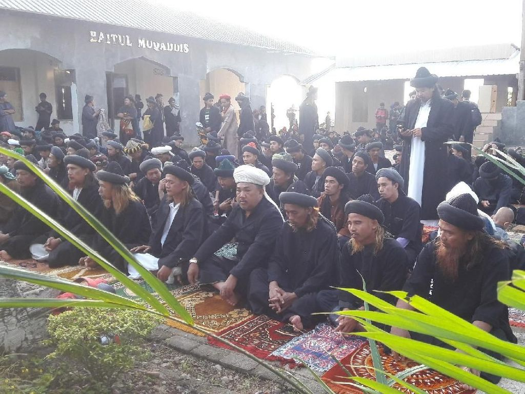 Lukman yang juga salah satu pemimpin Jemaah An Nazhir dalam khotbahnya menekankan pentingnya pemahaman tentang Islam. (Foto: Yahya Maulana/detikcom)