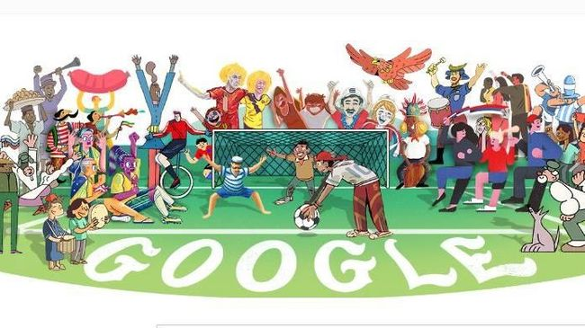 Google Doodle Sambut Piala Dunia 2018