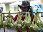 Pedagang Ketupat Mulai Ramai Jelang Lebaran Tiba
