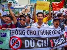 Warga Vietnam Demo Besar-besaran Tolak Investor China