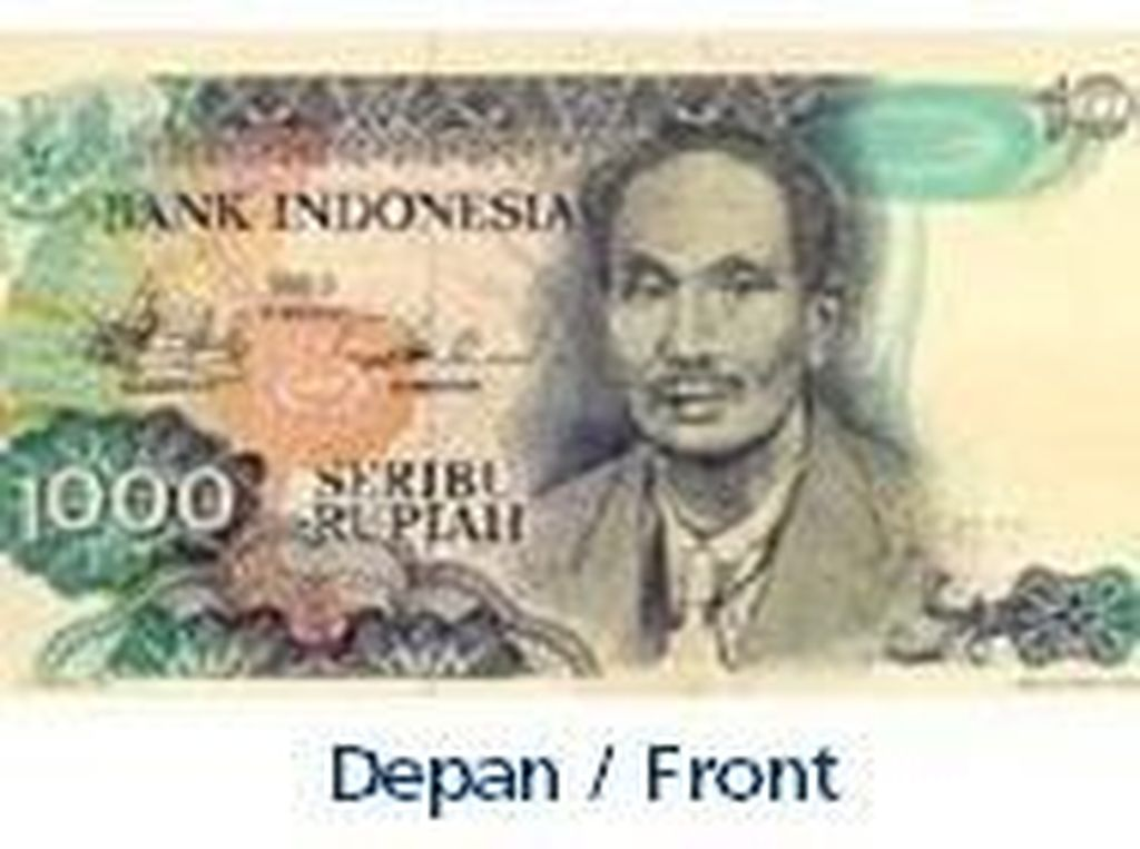 Uang kertas pecahan Rp 1.000/TE 1980. Istimewa/Dok. Bank Indonesia.