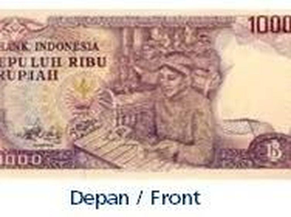 Uang kertas pecahan Rp 10.000/TE 1979. Istimewa/Dok. Bank Indonesia.