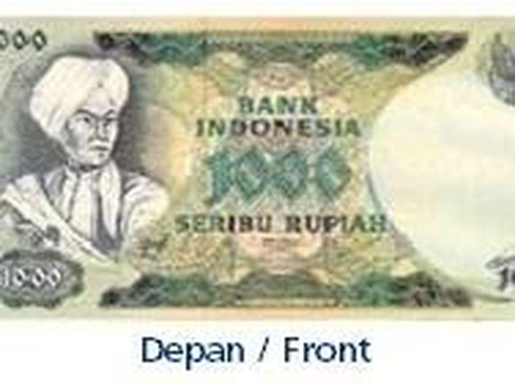 Uang kertas pecahan Rp 1.000/TE 1975. Istimewa/Dok. Bank Indonesia.