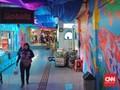 Dinding Terminal Leuwi Panjang Dihiasi Mural Warna-warni