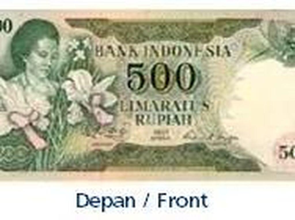 Uang kertas pecahan Rp 500/TE 1975. Istimewa/Dok. Bank Indonesia.