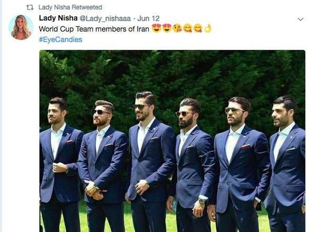 Ganteng-ganteng! Pesona Tim Sepakbola Iran di Piala Dunia 2018 Bikin Gagal Fokus