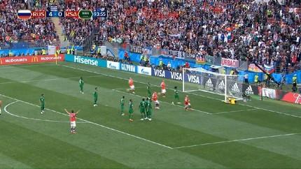 VIDEO: 5 Gol Kemenangan Rusia vs Arab Saudi