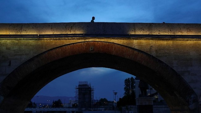 Makedonia memisahkan diri dari Republik Yugoslavia pada tahun 1991. (REUTERS/Marko Djurica)