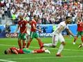 FOTO: Gol Bunuh Diri Maroko Antar Iran Raih Kemenangan