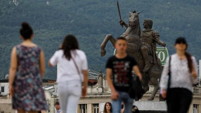 Republik Makedonia memiliki kekayaan budaya, seni, musik, puisi, dan arsitektur. (REUTERS/Marko Djurica)