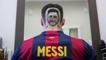Demam Piala Dunia, Wajah Messi Jadi Tato Rambut dari Serbia