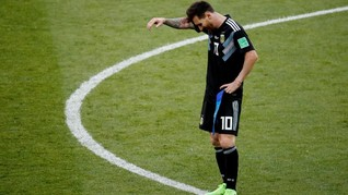 Wajah Buruk Rupa Lionel Messi di Piala Dunia 2018