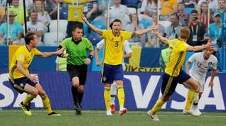 FOTO: Laga Swedia vs Korea Selatan Ditentukan VAR