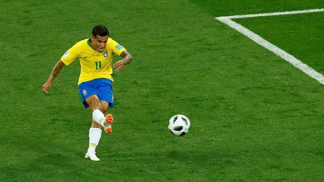 FOTO: Gol Coutinho Gagal Bawa Timnas Brasil Menang