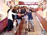 Ajak Cucu ke Transmart, Jokowi Cobai Wahana Ini