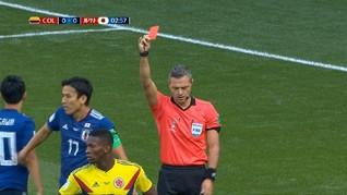 VIDEO: Kartu Merah Pertama Piala Dunia 2018