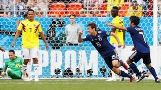Jepang Kalahkan 10 Pemain Kolombia di Piala Dunia