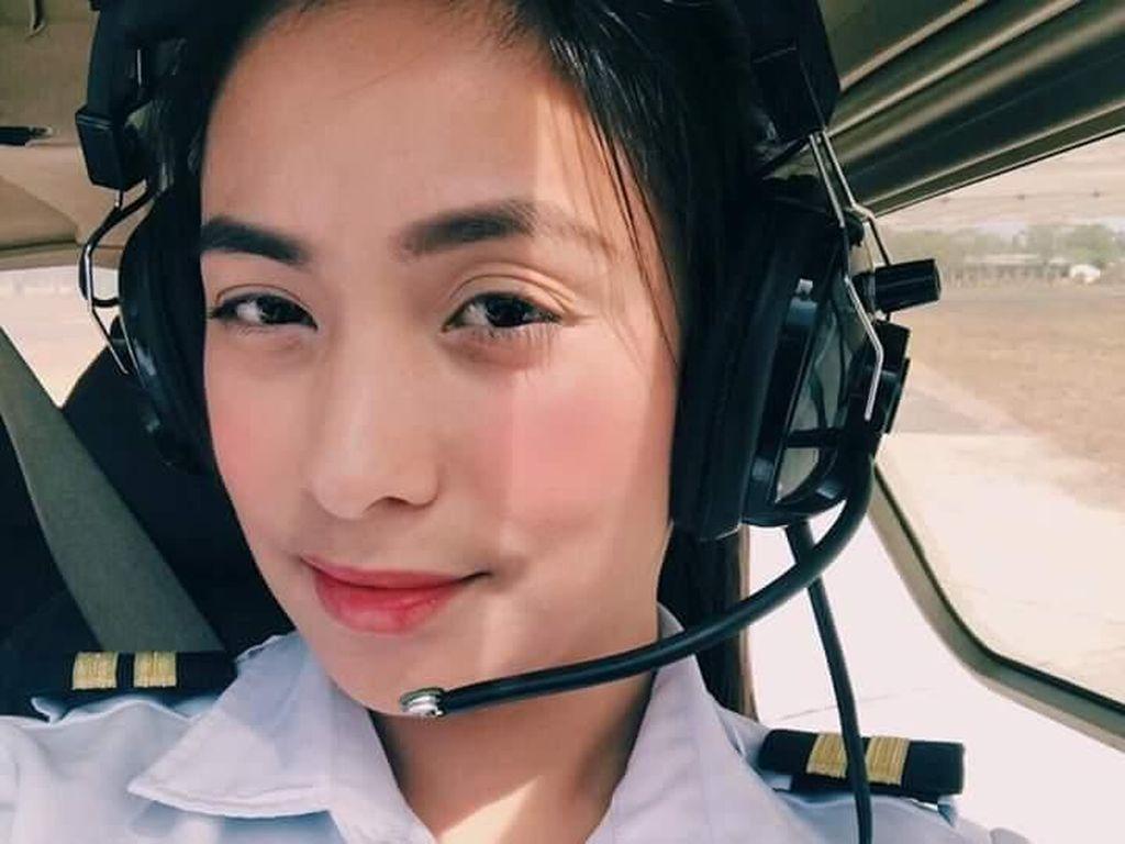 Pesona Shanika, Pilot Cantik yang Buat Hati Para Pria Melayang