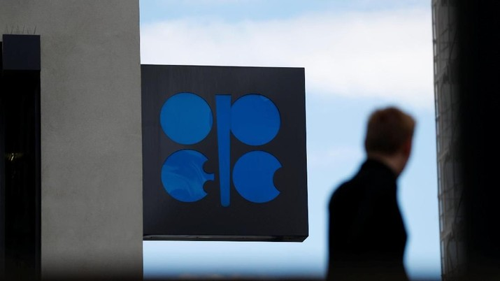 A person passes the logo of the Organization of the Petroleoum Exporting Countries (OPEC) in front of OPEC's headquarters in Vienna, Austria June 19, 2018.   REUTERS/Leonhard Foeger