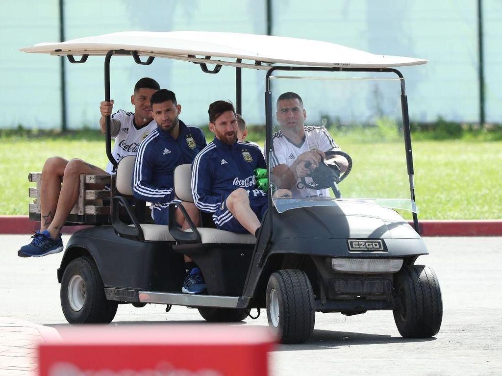 Lionel Messi dan Argentina Panaskan Mesin