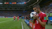 VIDEO: Cuplikan Lemparan Salto Gagal Bek Iran di Piala Dunia