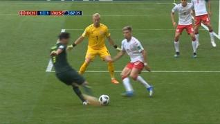 VIDEO: Cuplikan Gol-gol Denmark vs Australia