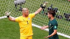 FOTO: Denmark vs Australia Berbagi Angka di Piala Dunia 2018