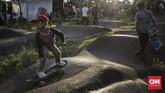 Go Skateboarding Day tak hanya diikuti kaum remaja dan dewasa, para skateboarders cilik juga turut ikut memeriahkan acara. (CNN Indonesia/ Hesti Rika)