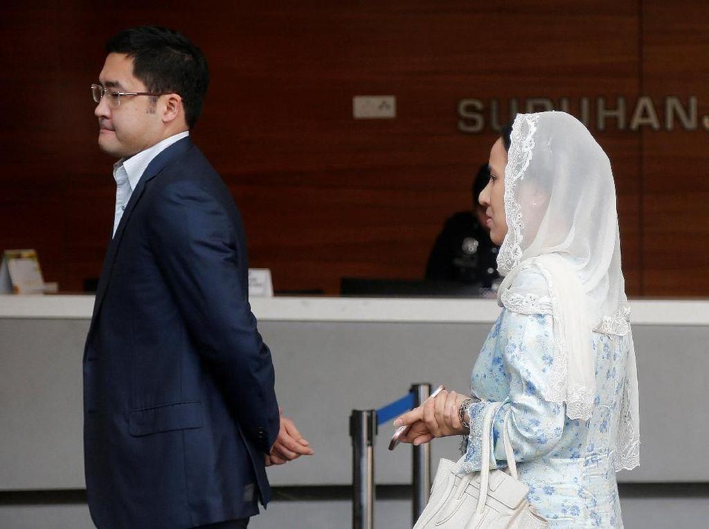 Dalam pernyataan terbaru, Najib memastikan barang-barang mewah, termasuk ratusan tas bermerek Birkin dari Hermes, yang disita merupakan hadiah yang diberikan untuk istri dan Nooryana. Ditegaskan Najib, barang-barang itu tidak terkait 1MDB. Foto: REUTERS/Lai Seng Sin