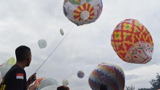 Trenggalek Rayakan Lebaran dengan Festival Balon Udara