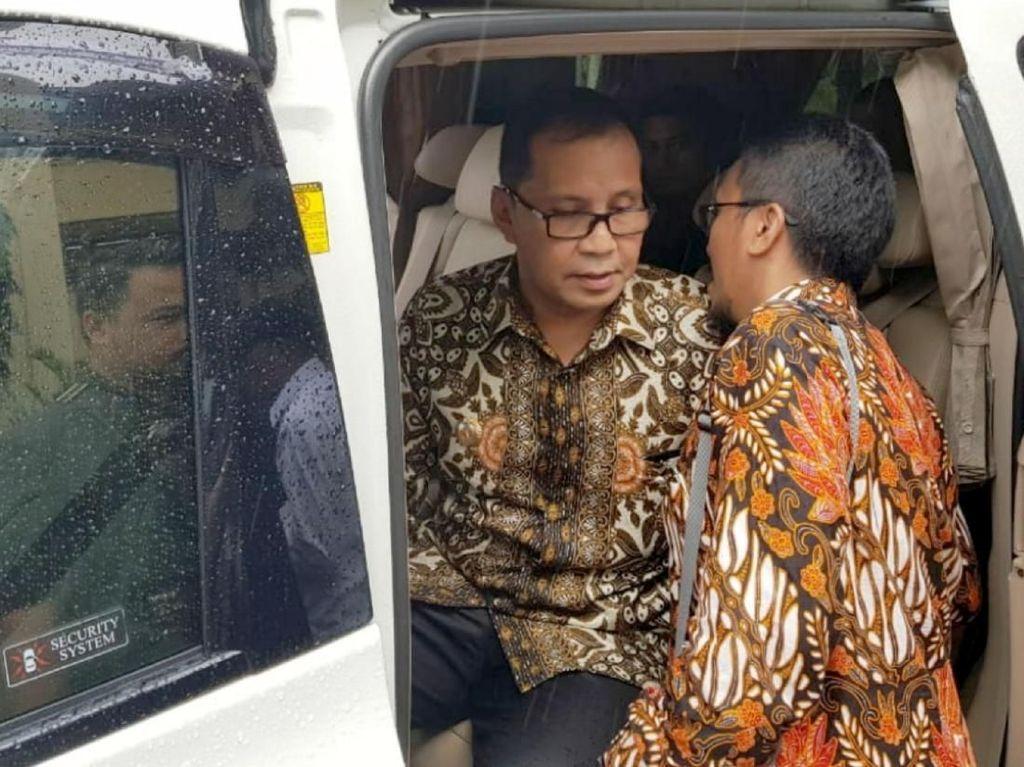Pemeriksaan tersebut dilakukan terkait dengan dugaan korupsi pemotongan anggaran dana Camat di Kota Makassar. Foto: dok. Polda Sulsel