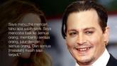 Johnny Depp juga mengakui lebih banyak merenung usai ditempa berbagai masalah. (REUTERS/Stefano Rellandini)