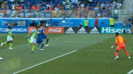 VIDEO: Nigeria vs Islandia Tanpa Gol  di Babak Pertama