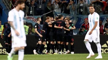 Argentina Kalah Telak 0-3 dari Kroasia di Piala Dunia 2018
