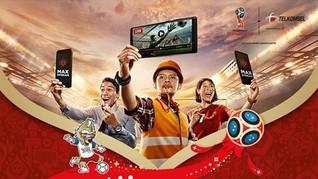 Nonton Piala Dunia 2018 dengan Telkomsel Hanya Rp 10