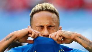 Usai Menang dan Menangis, Neymar Kabur dari Wartawan