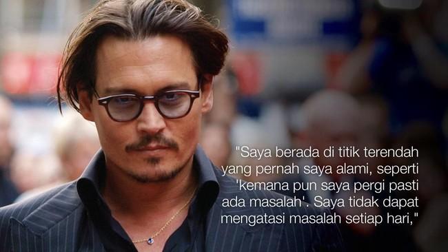 Bercerai dari istrinya, Amber Heard, dan digugat sejumlah pihak terkait masalah uang diakui Johnny Depp membuat dirinya frustasi. (AFP PHOTO/MAX NASH)