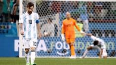 FOTO: Kegetiran Messi Saat Argentina Dihancurkan Kroasia
