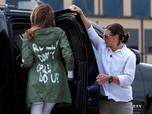 Ini Jaket Kontroversial Melania Trump Saat Kunjungi Imigran